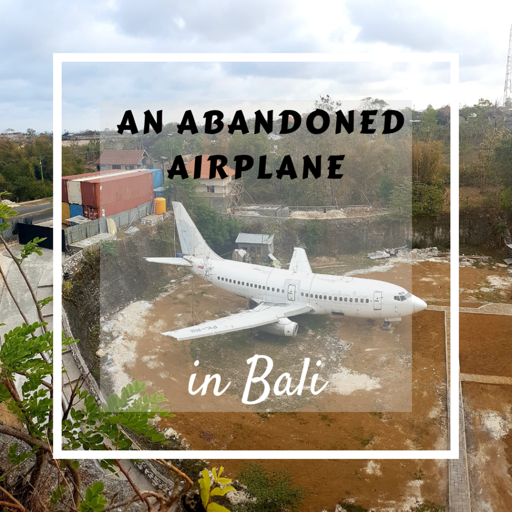 An Abandoned Airplane In Bali